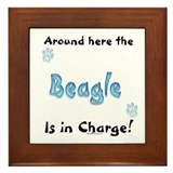 Beagle Charge Framed Tile