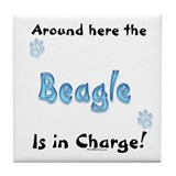 Beagle Charge Tile Coaster