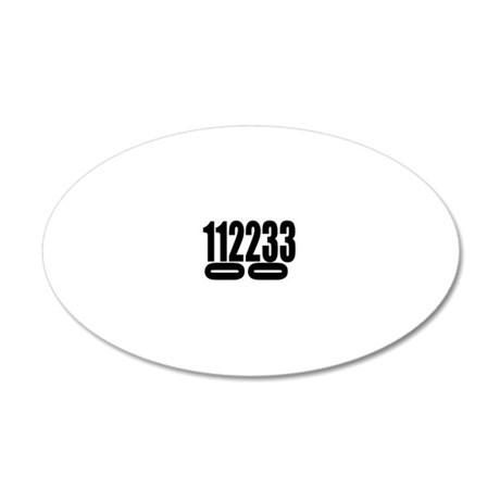 SCCA-0-3-DOUBLES 20x12 Oval Wall Decal