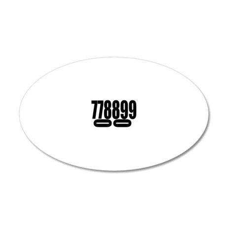 SCCA-0-7-9-DOUBLES 20x12 Oval Wall Decal