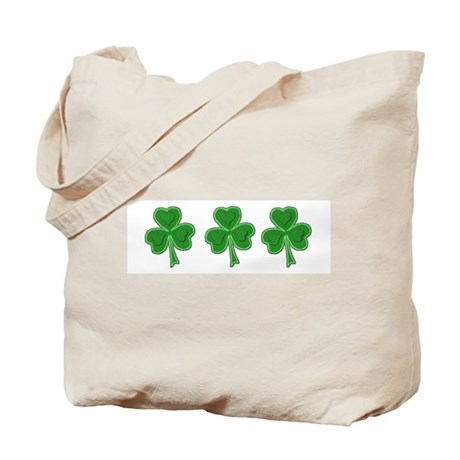 Triple Shamrock (Green) Tote Bag