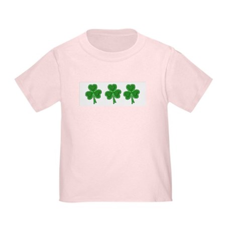 Triple Shamrock (Green) Toddler T-Shirt