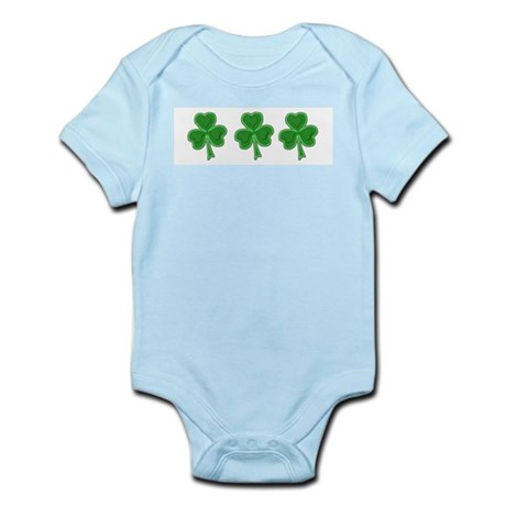 Triple Shamrock (Green) Infant Bodysuit