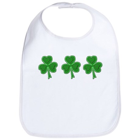 Triple Shamrock (Green) Bib