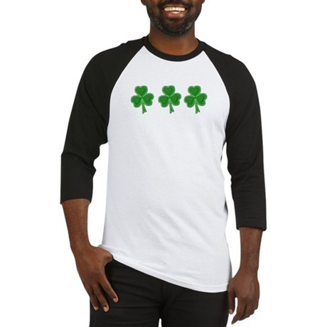 Triple Shamrock (Green) Baseball Jersey