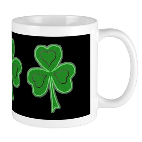 Triple Shamrock (Green) Mug