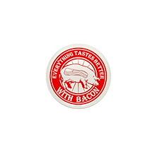 Pig Black Leg Black Burst- Red Mini Button