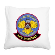 US NAVAL INTELLIGENCE Militar Square Canvas Pillow