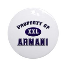 Property of armani Ornament (Round)