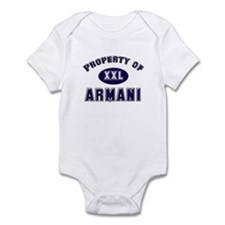 Property of armani Infant Bodysuit
