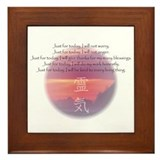 Reiki Principles Framed Tile