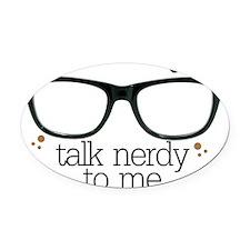 nerdy Oval Car Magnet