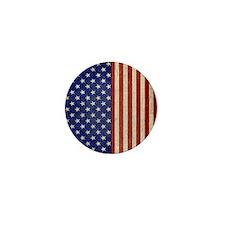 flip_flops_antique_american_flag Mini Button