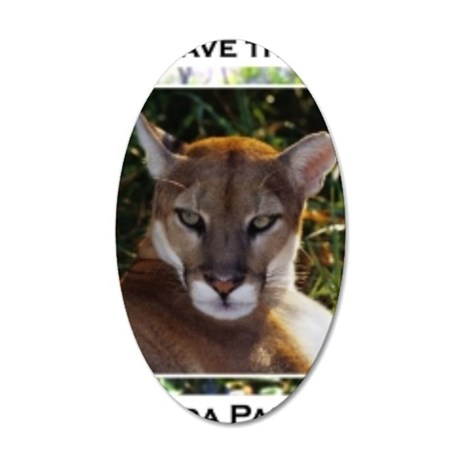 Florida Panther 820 35x21 Oval Wall Decal