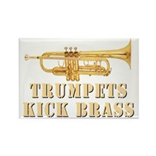 trumpetskickbrass_2_dark Rectangle Magnet