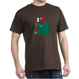 I love Turkmenistan Flag T-Shirt