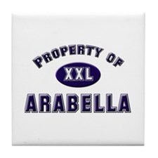 Property of arabella Tile Coaster