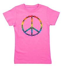 peace chain vivid Girl's Tee