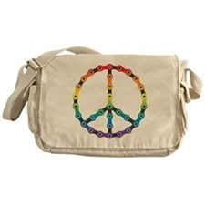 peace chain vivid Messenger Bag