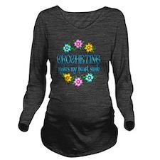 CROCHET Long Sleeve Maternity T-Shirt