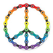 peace chain vivid Round Car Magnet