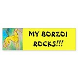 My Borzoi Rocks Bumper Bumper Sticker