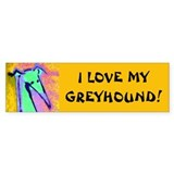 Greyhound Love Bumper Car Sticker