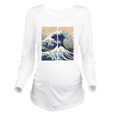 great_wave_flip_flop Long Sleeve Maternity T-Shirt