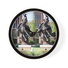 new horse logo -- statue Wall Clock