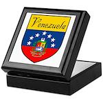 Venezuela Flag Crest Shield Keepsake Box