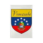 Venezuela Flag Crest Shield Rectangle Magnet (10 p