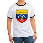Venezuela Flag Crest Shield Ringer T