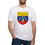 Venezuela Flag Crest Shield Fitted T-Shirt