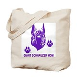 Tote Bag one side red with purple on other