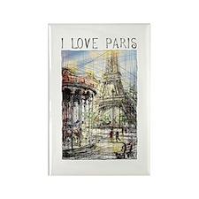 Paris 9 Rectangle Magnet