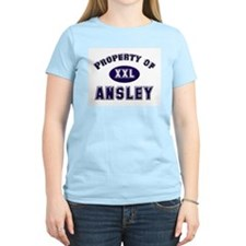 Property of ansley Women's Pink T-Shirt