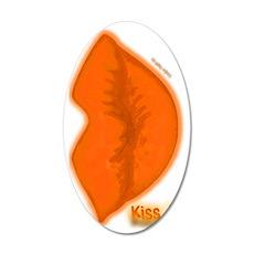 Kiss it (orange) 35x21 Oval Wall Decal