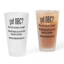 got obc steelfish black copy Drinking Glass