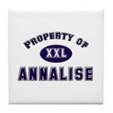 Property of annalise Tile Coaster