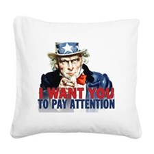 calendar_pay_attention Square Canvas Pillow