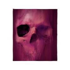 11x17_AggressiveSkull_Img_PRPL Throw Blanket