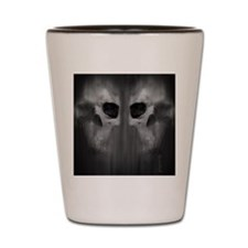 FlipFlop_AggressiveSkull_GRY Shot Glass