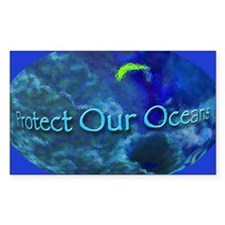 Protect Our Oceans Rectangle Decal