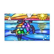 SeaTurtle8 - with dove Rectangle Car Magnet