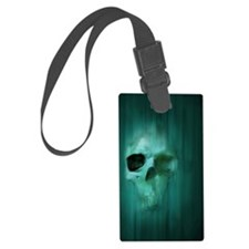 18x13-6_AggressiveSkull_BLU Luggage Tag