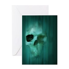 18x13-6_AggressiveSkull_BLU Greeting Card