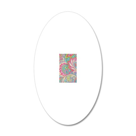 443 Pink Paisley 20x12 Oval Wall Decal