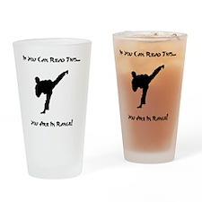 In Range Black Drinking Glass
