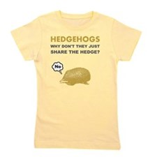 Hedgehogs Brown Girl's Tee