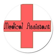 Medical Assistant CROSS Round Car Magnet